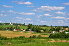 Russian country village Stock Photography
