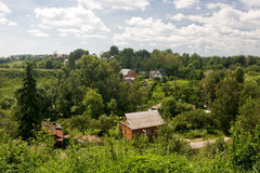 RUSSIAN countryside. A view of a typical village in the north of the European part of Russia Stock Image