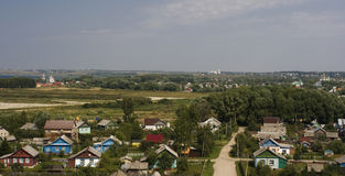 RUSSIAN countryside. A view of a typical village in the north of the European part of Russia (Pereslavl Stock Photography