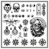 Russian Criminal Finger Tattoos Royalty Free Stock Images