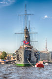 Russian cruiser Aurora, currently a museum ship, St. Petersburg, Stock Image
