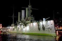 Russian cruiser Aurora Royalty Free Stock Photos