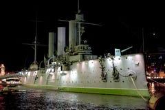 Russian cruiser Aurora Royalty Free Stock Photos
