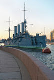Russian cruiser Aurora Royalty Free Stock Images