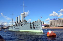 Russian Cruiser Avrora, Saint-Petersburg Stock Photo