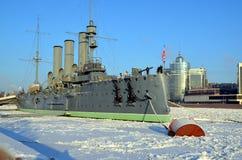 Russian cruiser Avrora, Saint-Petersburg Stock Images
