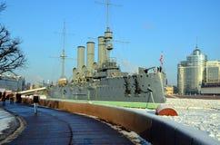 Russian cruiser Avrora, Saint-Petersburg Royalty Free Stock Images