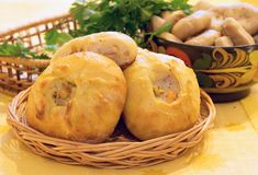 Russian cuisine,. Recipe 5. Still life of Rastegaev fish (series Royalty Free Stock Image