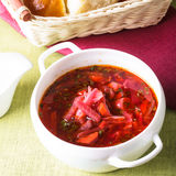 Russian cuisine - borsch Royalty Free Stock Image
