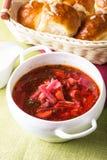 Russian cuisine - borsch Stock Photography