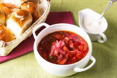 Russian cuisine - borsch Royalty Free Stock Image