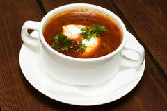 Russian cuisine, borscht soup Stock Photo