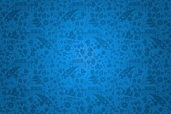 Russian culture icon blue background template Stock Photos