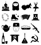 Russian culture icons set Royalty Free Stock Images