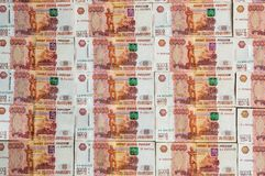 Russian currency banknotes, five thousand rubles Royalty Free Stock Photography