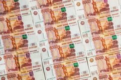 Russian currency banknotes, five thousand rubles Stock Photos