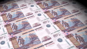 Russian currency stock footage