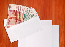 Russian Currency on the Table Royalty Free Stock Photography