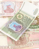 Russian currency three. Money from russia, with love Royalty Free Stock Images