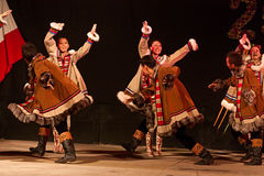 Russian dancers Royalty Free Stock Photos