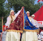 Russian Dancers Royalty Free Stock Photography