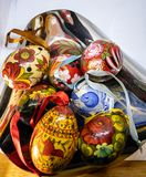 Russian decorative eggs stock images