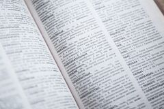 Russian dictionary Stock Images