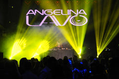 Russian DJ Angelina Lavo performs on the stage Royalty Free Stock Photo