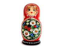 Russian doll. Isolated on white Stock Photography