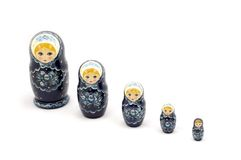 Russian Doll. Over white Stock Photo