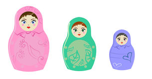 Russian doll Royalty Free Stock Image