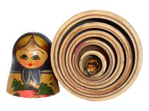 Russian Doll 5. Wooden Russian Doll Royalty Free Stock Images