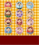 Russian Doll card Royalty Free Stock Image