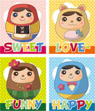 Russian Doll card Stock Photo