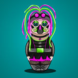 Russian doll a cyber goth royalty free illustration
