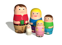 Russian Doll Family Stock Photos