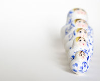 Russian doll family arrangment Royalty Free Stock Photography