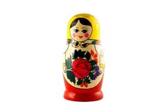 Russian doll isolated on white Royalty Free Stock Image