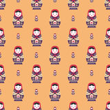 Russian doll matreshka seamless pattern Royalty Free Stock Photo