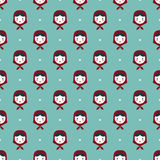 Russian doll matreshka seamless pattern Stock Images