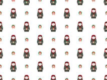 Russian doll matreshka seamless pattern Stock Photography
