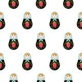 Russian doll matryoshka seamless pattern. Royalty Free Stock Photography