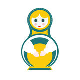 Russian doll - matryoshka. Russian doll- matryoshka. Vector illustration Royalty Free Stock Photo