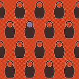 Russian doll pattern Stock Photography