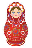 Russian Doll Red Stock Photo