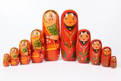 Russian doll Royalty Free Stock Photography