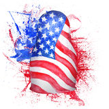 Russian Doll with USA Flag Stock Photography