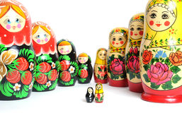 Russian doll on the white Royalty Free Stock Photo