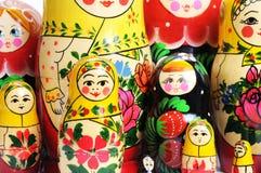 Russian doll on the white. Matreshka doll isolated on white Matreshkas Flash Mob Royalty Free Stock Image
