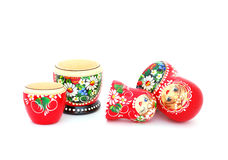 Russian Dolls. An opened Russian dolls on a white background Royalty Free Stock Image